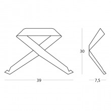 Wall coat hanger FIOCCO by Memedesign
