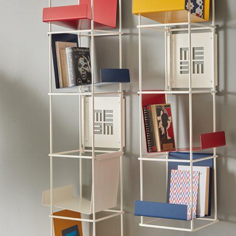 Modular wall bookcase Libro Verticale by Memedesign 2