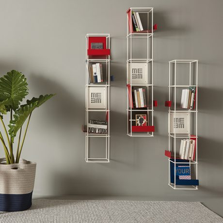 Modular wall bookcase Libro Verticale by Memedesign