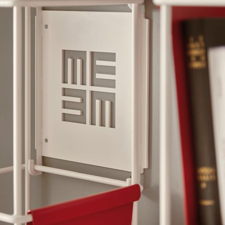 Modular wall bookcase Libro Verticale by Memedesign 4