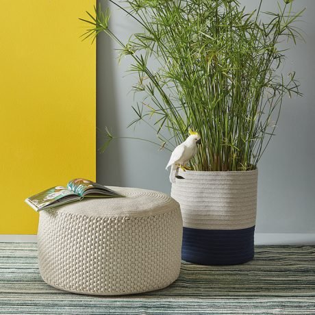 BERENICE round pouf for outdoor use MEMEDESIGN 3
