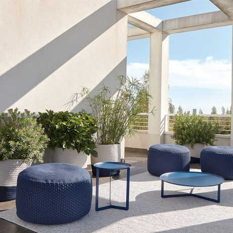 BERENICE round pouf for outdoor use MEMEDESIGN 2