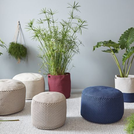 BERENICE round pouf for outdoor use MEMEDESIGN