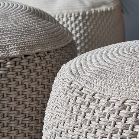BERENICE round pouf for outdoor use MEMEDESIGN 7