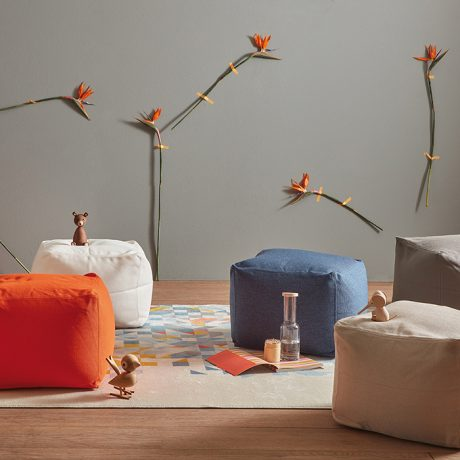 Archimede square pouf outdoor & indoor use by Memedesign 4