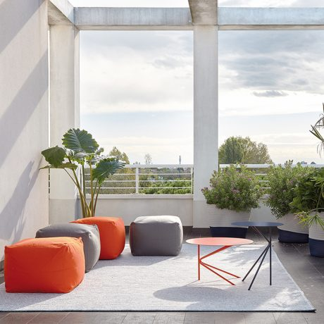 Archimede square pouf outdoor & indoor use by Memedesign 3