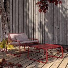 Lolita outdoor armchair and pouf