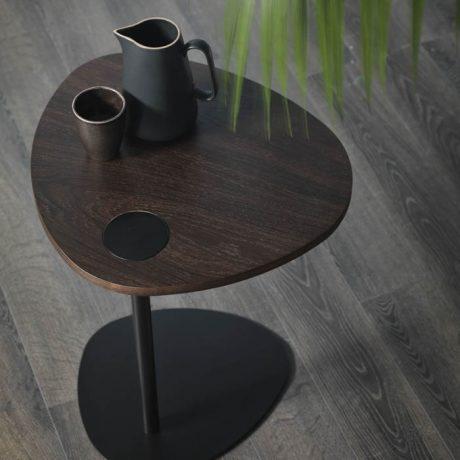 HUG coffee table with smoked oak top