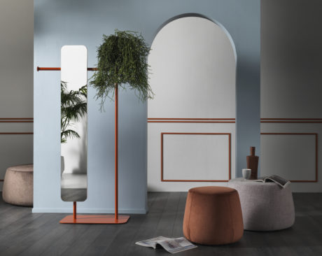 Multifunctional mirrors: BABELE BIG valet stand with mirror by Memedesign
